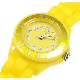 Reflex Analogue Yellow Dial & Silicone Strap Ladies Sports Watch SR202