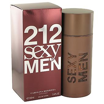 212 sexy por Carolina Herrera Eau De Toilette Spray 3.3 oz/100 ml (hombres)