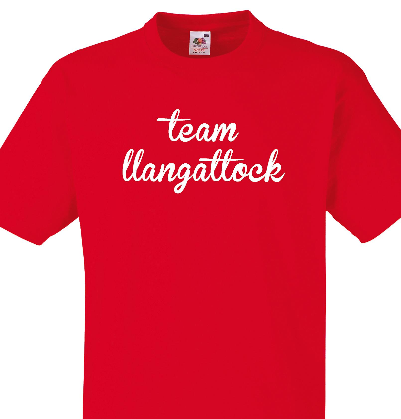Team Llangattock Red T shirt