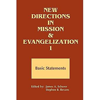 New Directions in Mission and Evangelization: Basic Statement, 1974-1991 Bk. 1