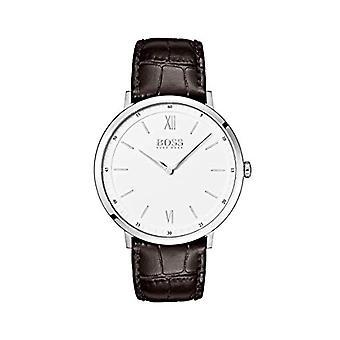 Cuarzo analógico reloj Hugo Boss hombre con correa de cuero 1513646
