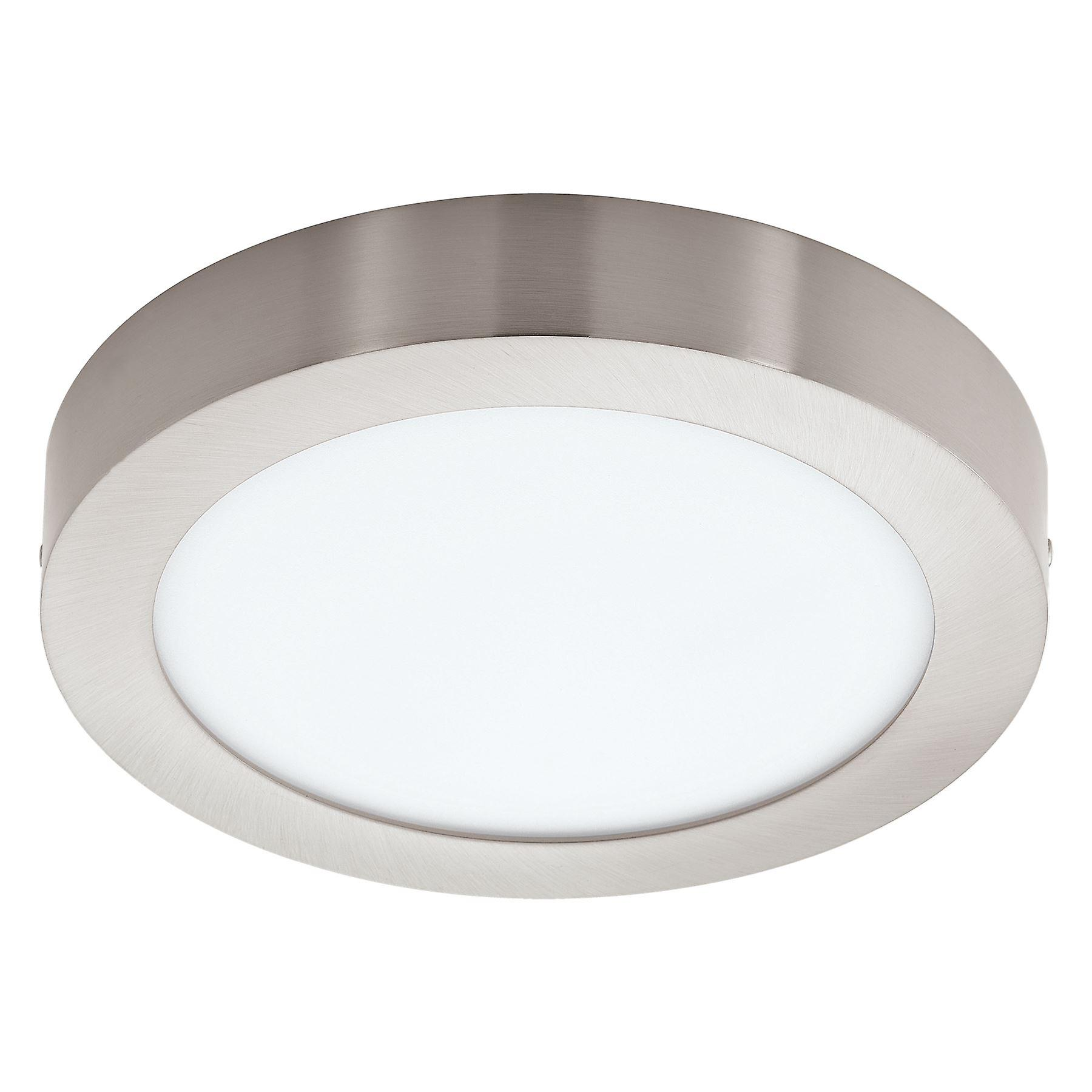 Eglo - Fueva-C Connect Controlled Tuneable blanc & RGB Surface Mounted Panel lumière Satin Nickel EG96677