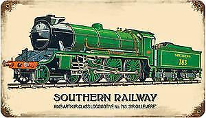 Southern Railway rusted metal sign   (pst 148)