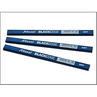 Blackedge Carpenters Pencils - Blue / Soft Card of 12