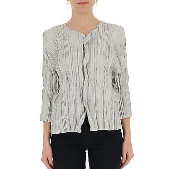 Issey Miyake Grey Polyester Cardigan