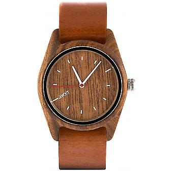 Watch D.W.Y.T DW-00101-1005 - Sherwood wood mixed brown leather