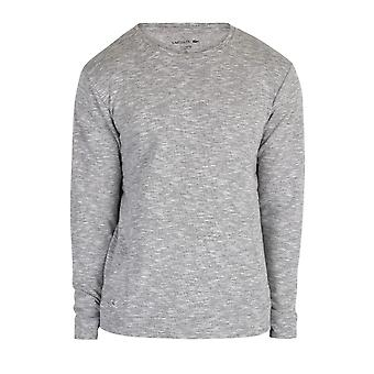 Lacoste Long Sleeve Sleepwear Top - Grey Melange