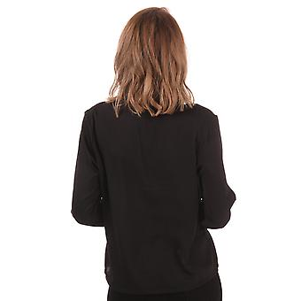 Womens Only Mona Pussy Bow Blouse In Black