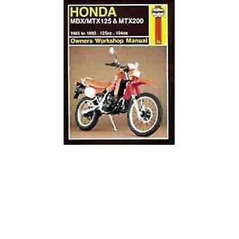 Honda MBX/MTX125 and MTX200 Owner's Workshop Manual (Revised edition)
