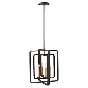 Elstead - 4 Light Pendant Chandelier - Buckeye Bronze Finish - HK/QUENTIN/4P/B