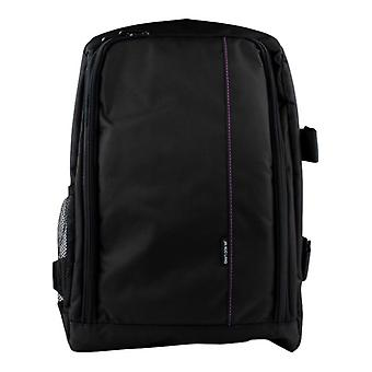 Camera backpack with rain cover-purple