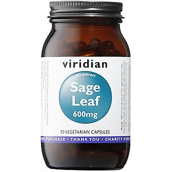 Viridian Sage Leaf Extract 600mg Veg Caps 90 (859)