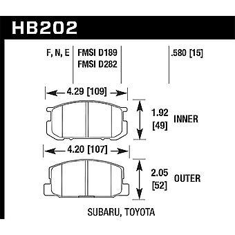 Hawk Performance HB202N.580 HP Plus