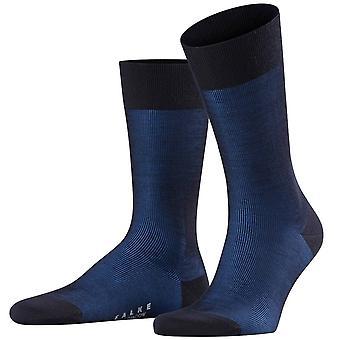 Falke Fine Shadow Wolle Socken - dunkle Marine