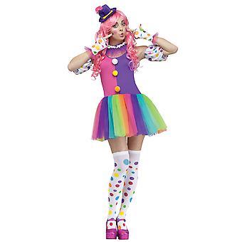 Clowin runt Fantasy Clown Circus kvinnor kostym