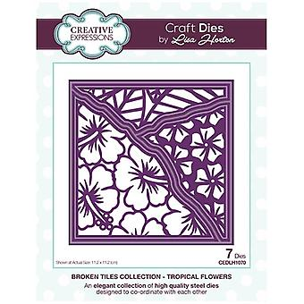 Creative Expressions Die Set Tropical Flowers by Lisa Horton Set of 7 | Broken Tiles Collection