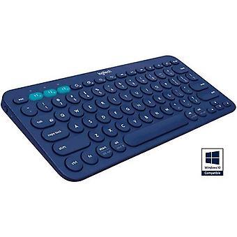 Logitech k380 Bluetooth Tastatur Layout n blaue Farbe