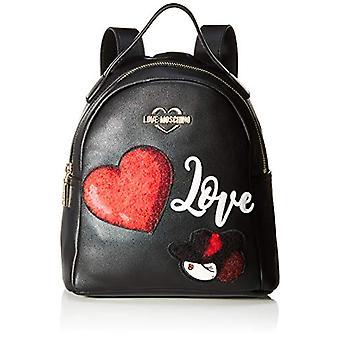 Love Moschino Pu Women's Backpack Bag (Black) 27x9x24 cm (W x H x L)