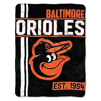 Northwest MLB Baltimore Orioles micro pluche deken 150x115cm
