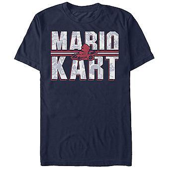 Nintendo Mario Kart Text blau T-Shirt