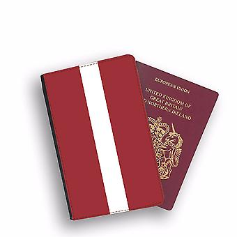 LATVIA Flag Passport Holder Style Case Cover Protective Wallet Flags design