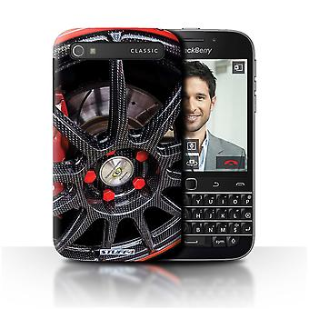 STUFF4 Case/Cover for Blackberry Classic/Q20/Black/Red/Alloy Wheels