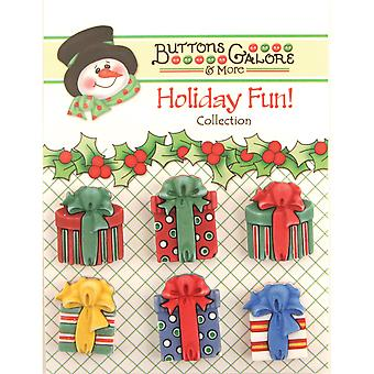 Holiday Buttons Christmas Presents Cm 107