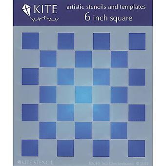 Judikins 6 Inch Square Kite Stencil Checkerboard 5X5 Ks 10