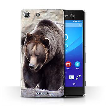 STUFF4 Case/Cover for Sony Xperia M5/Bear/Wildlife Animals