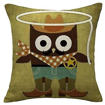 Wellindal Holy Owl Cushion Cover Cotton (Decoratie , Textiel , Kussens , Kussens)