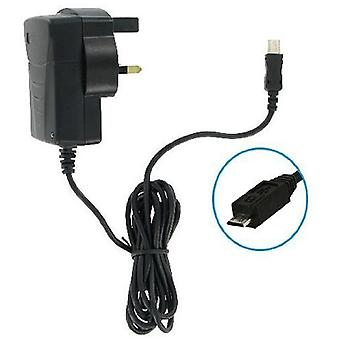 Charger for Sony Xperia E5 Micro USB UK CE Approved 3 Pin Mains Travel Charger By i -Tronixs