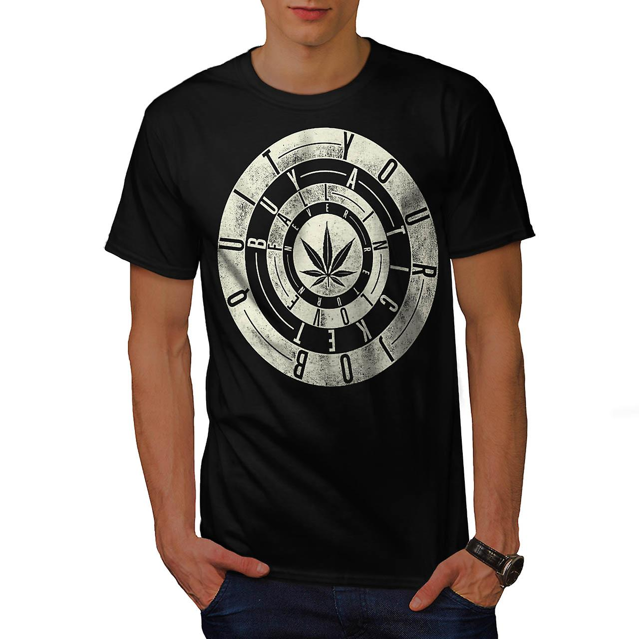 Dope Quit Job Ticket Fall Love Men Black T-shirt | Wellcoda