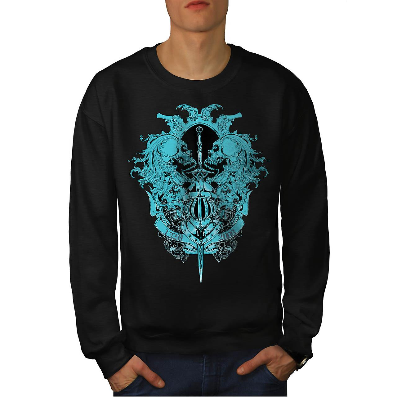 Ghost Skull Dead Vintage Men Black Sweatshirt | Wellcoda