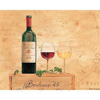Czerwone wina Wydrukuj plakat przez Peter Butler