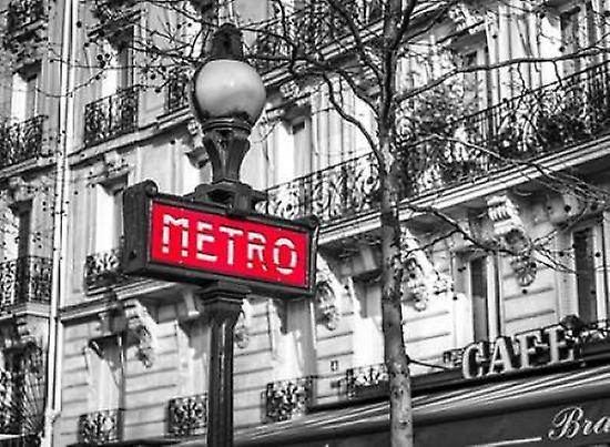 paris metro sign poster print by assaf frank fruugo. Black Bedroom Furniture Sets. Home Design Ideas