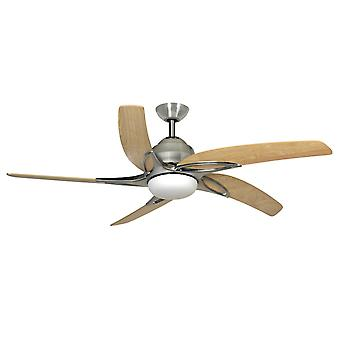 Ceiling fan Viper Stainless Steel with lighting 112 cm / 44