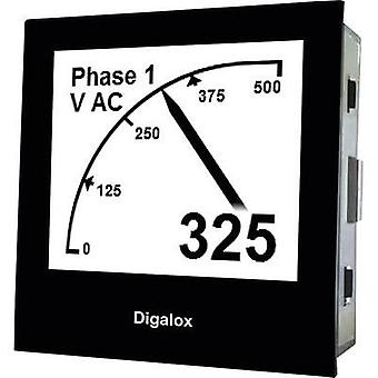 TDE Instruments Digalox DPM72-AVP Graphical DIN-panelmeter for Voltage and Ampere with USB interface TDE Instruments Dig