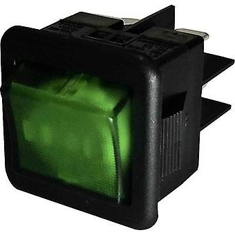 Toggle switch 250 Vac 10 A 1 x Off/On SCI R13-105B-01 GREEN AC latch 1 pc(s)