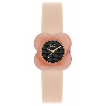 Orla Kiely Womens Poppy Pink Leather Strap OK2060 Watch