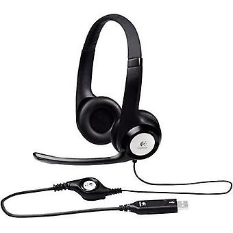 PC headset USB Corded, Stereo Logitech H390 Over-the-ear Black