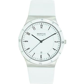 Bering mens watch wristwatch slim ceramic - 32239-354 leather
