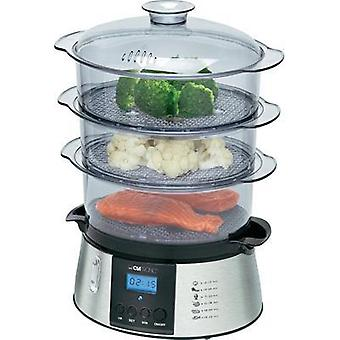 Steam cooker with display, Timer fuction Clatronic DG3547 Stainless steel, Black