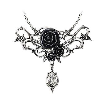 Alchemy Gothic Bacchanal Rose Crystal Drop Pendant Necklace