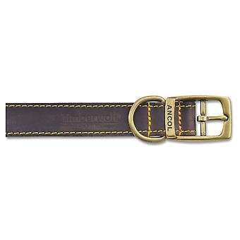 Timberwolf Leather Collar Sable 25mm X45-54cm