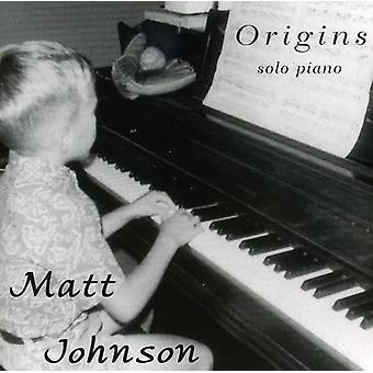 Matt Johnson - Origins [CD] USA import