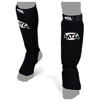 MTG Pro Black Elastic Shin Guards
