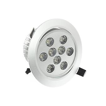 I LumoS High Quality Epistar 9 Watts Silver Circle Aluminium Pure White LED Tiltable Recessed Spot Down light