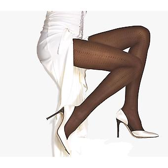Solidea Egypt 70 Patterned Support Tights [Style 39970] Moka (Dark Brown)  XL