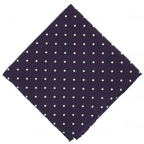 Michelsons of London Polka Dot Silk Handkerchief - Purple