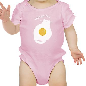 Meowgical Cat Pink Infant Bodysuit Baby Girl First Halloween Costumes